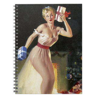 Waiting For Santa Pin-Up Notebooks