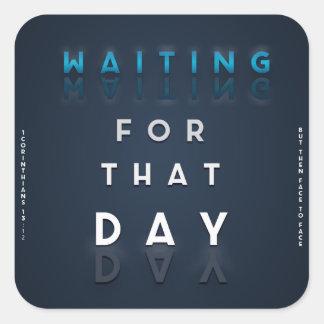 Waiting For That Day Faith Logo Christian Sticker