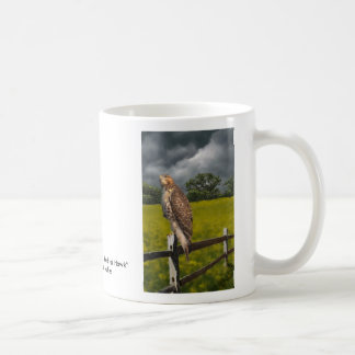 Waiting for the Storm - Red tail Hawk Coffee Mugs