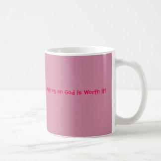 Waiting on God is Worth it Pink Coffee Mug