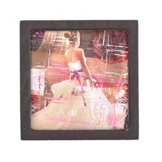 waiting- pink tinted gift box premium trinket box