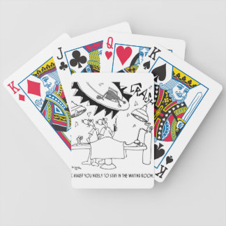 Waiting Room Cartoon 9481 Bicycle Playing Cards