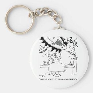 Waiting Room Cartoon 9481 Key Ring