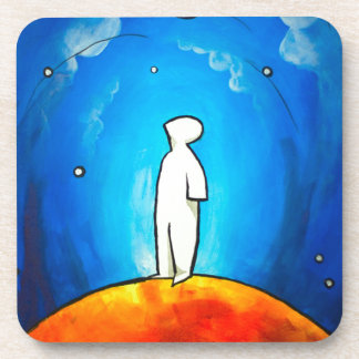 Waiting Under the Moon Drink Coasters