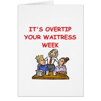 waitress joke card