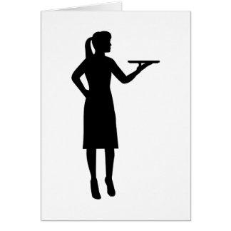 Waitress server card