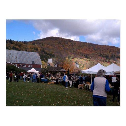 Waitsfield Vermont Farmers Market Oct 2010 Post Card