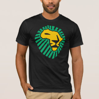 Waka waka Lion Head Africa Green Yellow Men Shirt