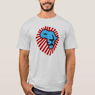 Waka waka Red Mane Blue Lion Africa Shirt