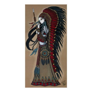 Wakanda Native Tribal Warrior Priestess Poster
