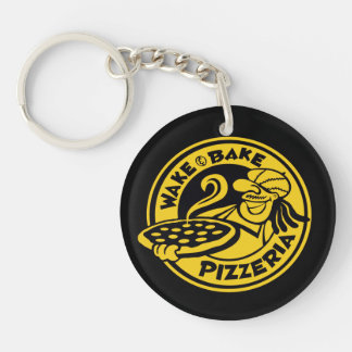 Wake & Bake Pizza Delivery Key Ring