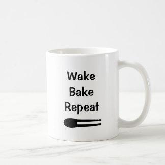 Wake Bake Repeat Makeup White Mug