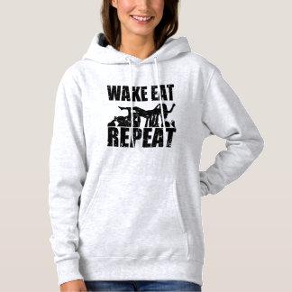WAKE EAT crowd surf REPEAT (blk) Hoodie