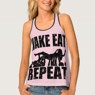 WAKE EAT crowd surf REPEAT (blk) Singlet