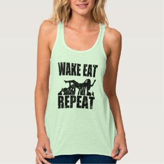WAKE EAT crowd surf REPEAT (blk) Singlet