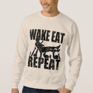 WAKE EAT crowd surf REPEAT (blk) Sweatshirt
