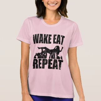 WAKE EAT crowd surf REPEAT (blk) T-Shirt