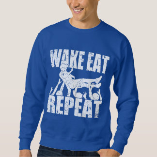 WAKE EAT crowd surf REPEAT (wht) Sweatshirt