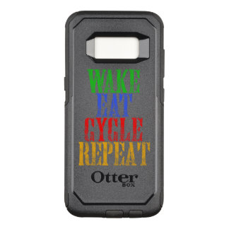 WAKE EAT CYCLE REPEAT OtterBox COMMUTER SAMSUNG GALAXY S8 CASE