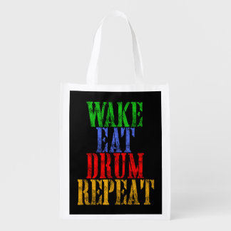 Wake Eat DRUM Repeat Reusable Grocery Bag