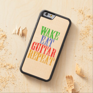 Wake Eat GUITAR Repeat Carved Maple iPhone 6 Bumper Case
