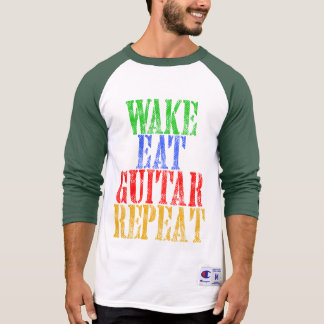 Wake Eat GUITAR Repeat T-Shirt