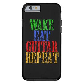 Wake Eat GUITAR Repeat Tough iPhone 6 Case