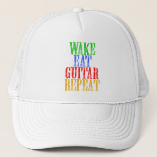 Wake Eat GUITAR Repeat Trucker Hat