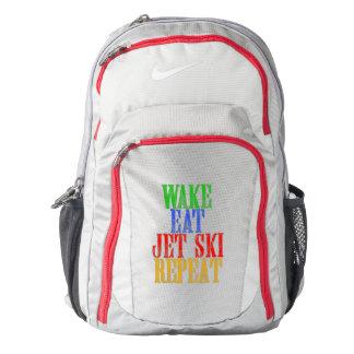 WAKE EAT JET SKI REPEAT BACKPACK