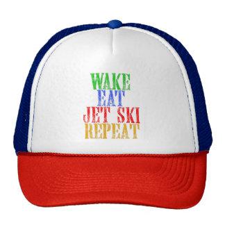 WAKE EAT JET SKI REPEAT CAP
