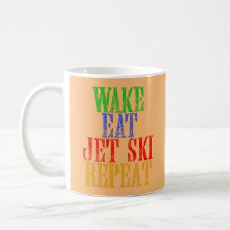WAKE EAT JET SKI REPEAT COFFEE MUG