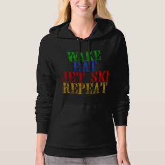 WAKE EAT JET SKI REPEAT HOODIE
