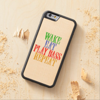 Wake Eat PLAY BASS Repeat Carved Maple iPhone 6 Bumper Case