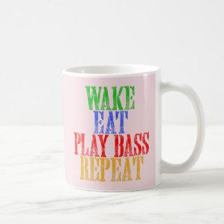 Wake Eat PLAY BASS Repeat Coffee Mug