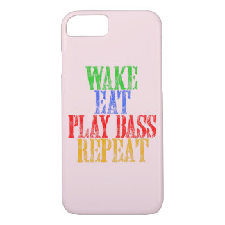 Wake Eat PLAY BASS Repeat iPhone 8/7 Case
