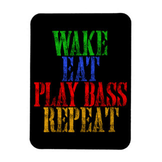 Wake Eat PLAY BASS Repeat Magnet