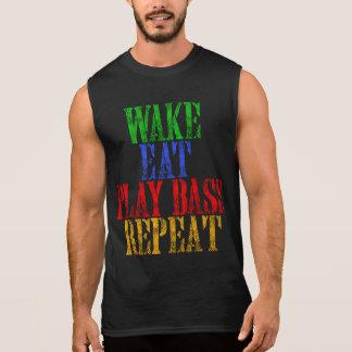 Wake Eat PLAY BASS Repeat Sleeveless Shirt