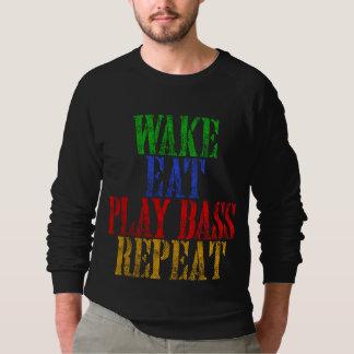 Wake Eat PLAY BASS Repeat Sweatshirt