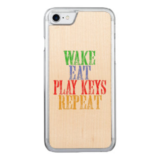 Wake Eat PLAY KEYS Repeat Carved iPhone 8/7 Case