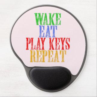 Wake Eat PLAY KEYS Repeat Gel Mouse Pad