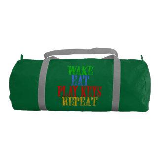 Wake Eat PLAY KEYS Repeat Gym Bag