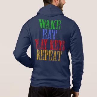 Wake Eat PLAY KEYS Repeat Hoodie