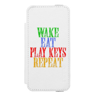 Wake Eat PLAY KEYS Repeat Incipio Watson™ iPhone 5 Wallet Case