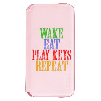 Wake Eat PLAY KEYS Repeat Incipio Watson™ iPhone 6 Wallet Case