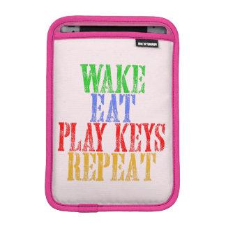 Wake Eat PLAY KEYS Repeat iPad Mini Sleeve