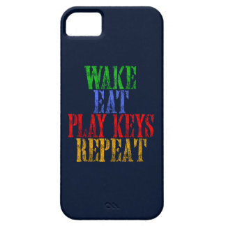 Wake Eat PLAY KEYS Repeat iPhone 5 Cover