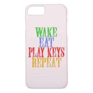Wake Eat PLAY KEYS Repeat iPhone 8/7 Case