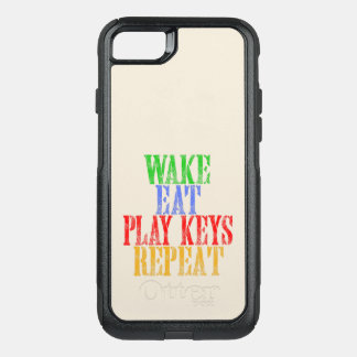 Wake Eat PLAY KEYS Repeat OtterBox Commuter iPhone 8/7 Case