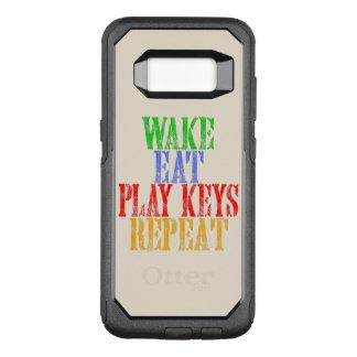 Wake Eat PLAY KEYS Repeat OtterBox Commuter Samsung Galaxy S8 Case