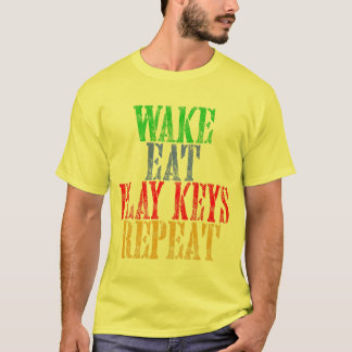Wake Eat PLAY KEYS Repeat T-Shirt